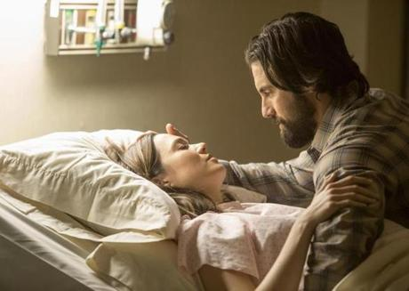 "Mandy Moore and Milo Ventimiglia in ""This Is Us."""